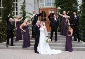 Bridal party at The Old Courthouse by Columbia Photos