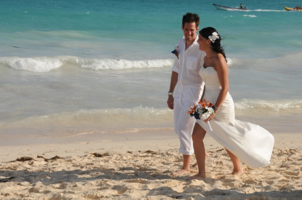 On the beach wedding by Columbia Photos based in London Ontario opening photo