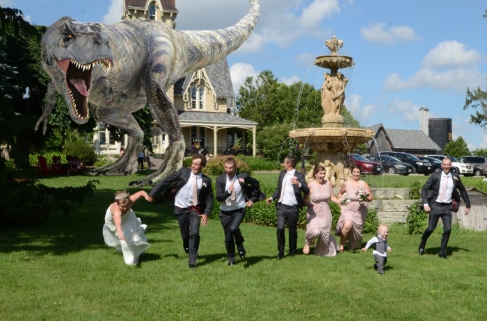 Wedding photographers London Ontario. T Rex at the Elm Hurst Inn 2019 by Columbia Photos