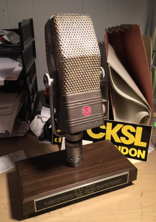 CKSL's first on air microphone