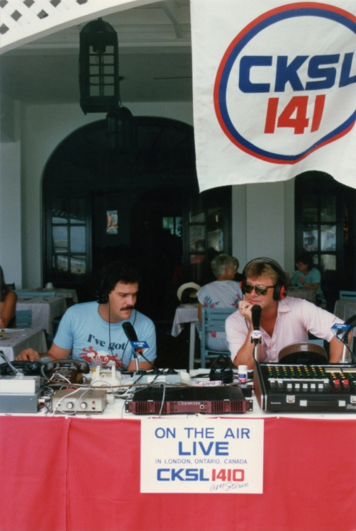 CKSL's morning show in Jamaica with Norm Borg and Rich Greven